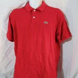 LACOSTE POLO Shirt ALLIGATOR LOGO Preppy Tennis